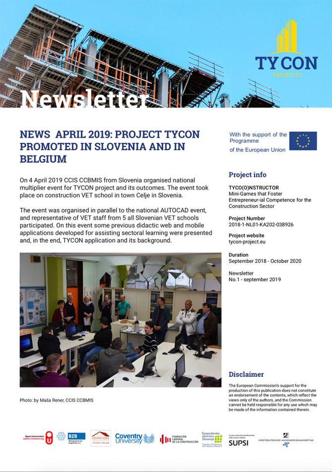 TYCON Newsletter #1