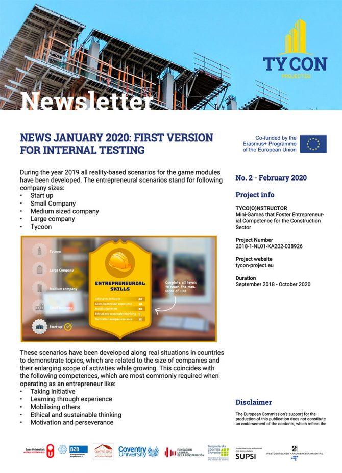 TYCON Newsletter #2